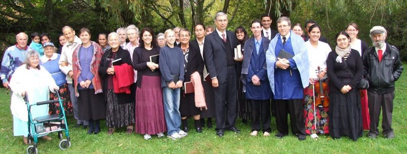 New Zealand camp meeting and baptism